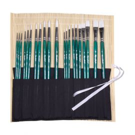 Bamboo case for brushes (L)