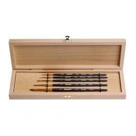 Set №2 - Round brushes from kolinsky