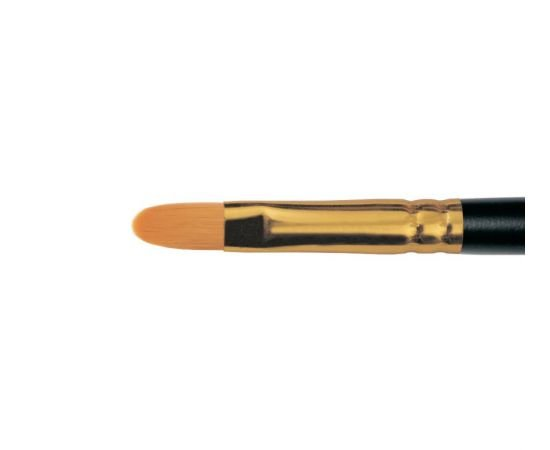 1337 - Oval brush from stiff synthetic