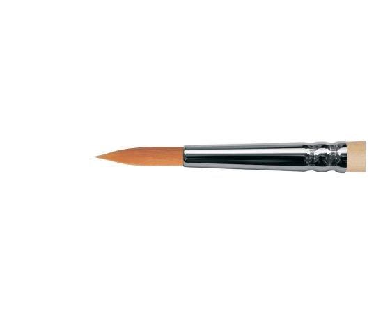 1212 - Круглая кисть из мягкой синтетики на длинной ручке