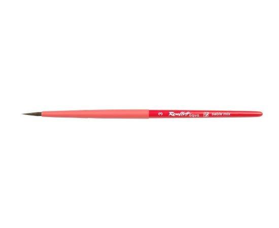 Aqua Red - Кисть круглая №3 соболь-микс