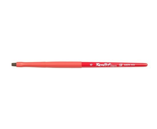 Aqua Red - Flat brush №6 sable mix