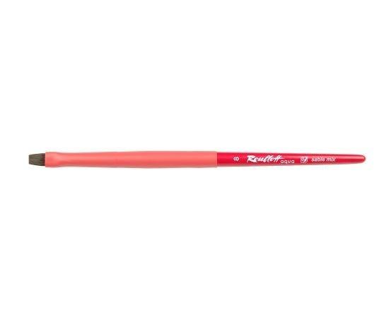 Aqua Red - Flat brush №8 sable mix